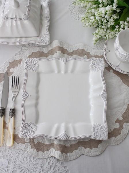 アンティーク風なフレンチ食器 シェルシリーズ ディナープレート ディナー皿】 フランス アンティーク調 アンティーク 食器 陶器