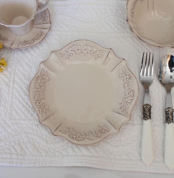 フレンチカントリー なピンクベージュの食器 【ペッシュシリーズ ケーキプレート ケーキ皿】 フレンチ食器 フランス アンティー