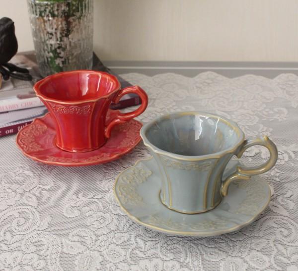 アンティーク 食器 雑貨 アンティーク風 (トリアノン)カップ&ソーサー C&S カフェ食器 陶器 姫系 フレンチカントリー french
