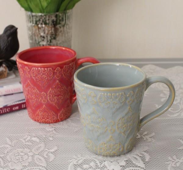 アンティーク 食器 雑貨 アンティーク風 (トリアノン)マグカップ マグ カフェ食器 陶器 姫系 フレンチカントリー french chic