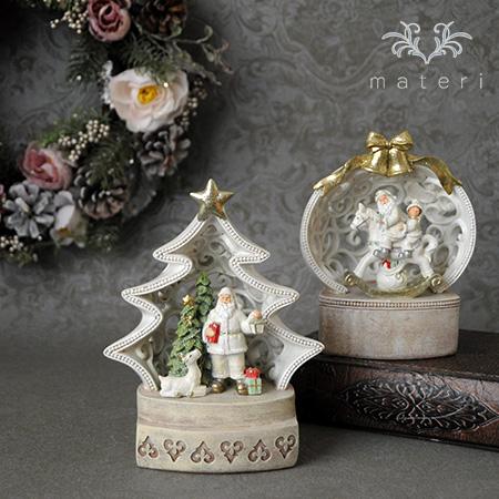 (SALE30)クリスマス雑貨 LEDサンタ・ドームオブジェ(6802)クリスマスツリー オブジェ クリスマス ディスプレイ シャ