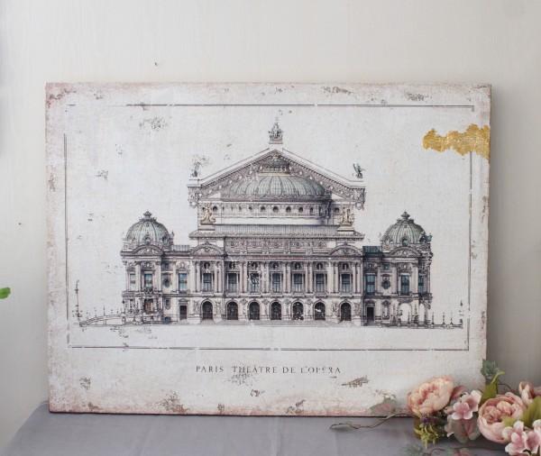 アートパネル Lサイズ オペラ座 オペラガルニエ 8574 PARIS THEATRE DE L'OPERA フランス パリ クリスマス 額絵 壁飾り オブジェ