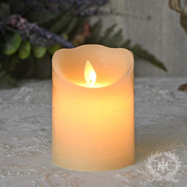 LEDキャンドルライト ホワイト・ショート(8332)LED蝋燭 ロウソク型ライト アンティーク風 アンティーク 雑貨 姫系 輸入