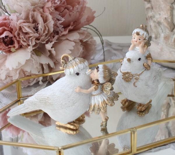 フラワーフェアリー 妖精 (バード2種セット8737) 置物 オブジェ ヨーロピアン アンティーク風 アンティーク 雑貨 姫系 輸入雑