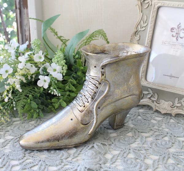 バロックブーツプランター 8744  靴 置物 ヴィクトリアン 可愛い おしゃれ アンティーク風 雑貨 輸入雑貨 antique shabby chic