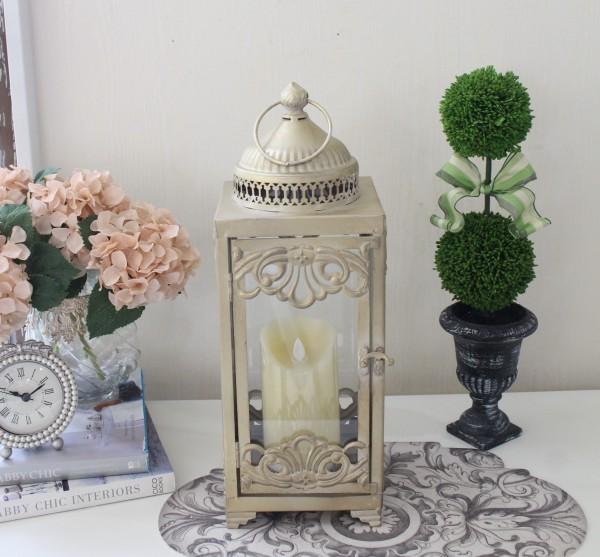 アンティークなシェルランタン(8801)ランタン 装飾用 アンティーク風 アンティーク 雑貨 姫系 輸入雑貨 シャビーシック 可愛い