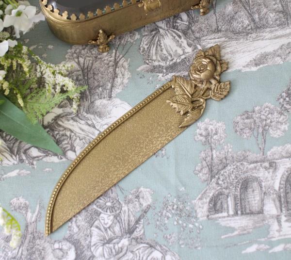 アンティークなペーパーナイフ ゴールド8793 レターナイフ レターオープナー 真鍮 お洒落雑貨  シャビーシック アンティーク風