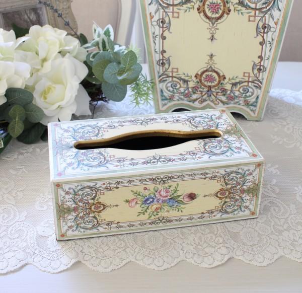 アントワネットシリーズ ティッシュボックス(8363)ティッシュBOX ティッシュカバー アンティーク風 アンティーク 雑貨 姫系