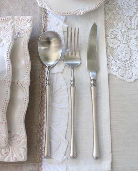 PARIS ディナーカトラリー シルバー(ナイフ・フォーク・スプーン) ステンレス製 輸入食器 カトラリー おしゃれ ゴールド ゴ