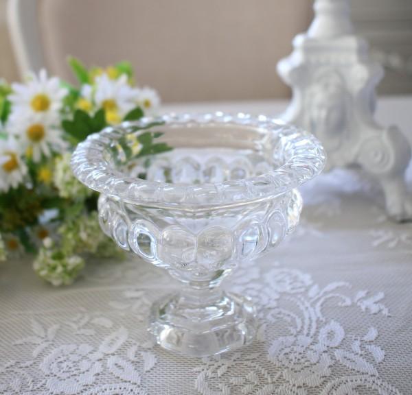 クリスタルベース Sサイズ 3007 ガラス製 ヨーロピアンコンポート 花瓶 ベース ヨーロピアン型 ガラス花器 洋風 輸入雑貨 シャビ