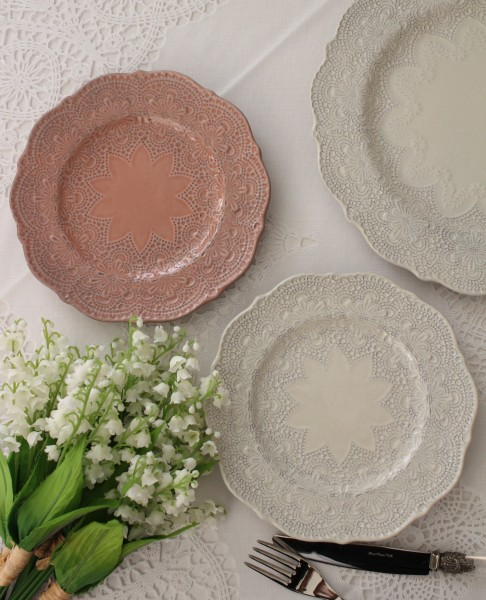 【La Ceramica V.B.C ラ・セラミカ イタリア】 ケーキ皿(033・035)デザートプレート イタリア製 輸入食器 フレンチカントリー