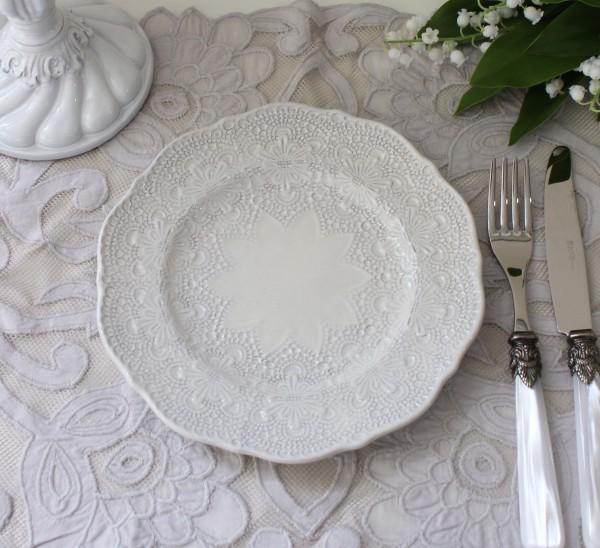 La Ceramica V.B.C ラ・セラミカ イタリア ケーキ皿(クリーム 035)デザートプレート イタリア製 輸入食器 フレンチカントリー