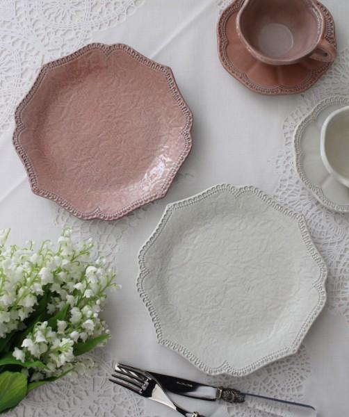 【La Ceramica V.B.C ラ・セラミカ イタリア】 ケーキ皿 041 042 デザートプレート イタリア製 輸入食器 シャビーシック アンテ