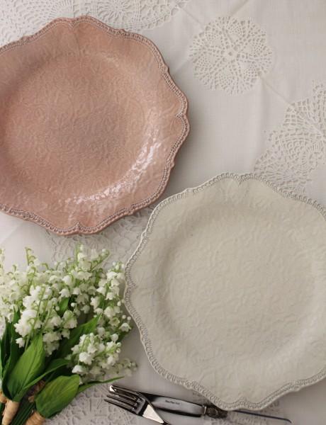 アンティーク 食器 アンティーク風 シャビーシック 【La Ceramica V.B.C ラ・セラミカ イタリア】 ディナー皿 イタリア製 輸入食