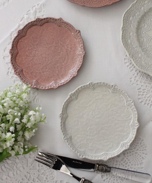 アンティーク 食器 La Ceramica V.B.C ラ・セラミカ イタリア プレート皿S デザートプレートシャビーシック アンティーク風 イ