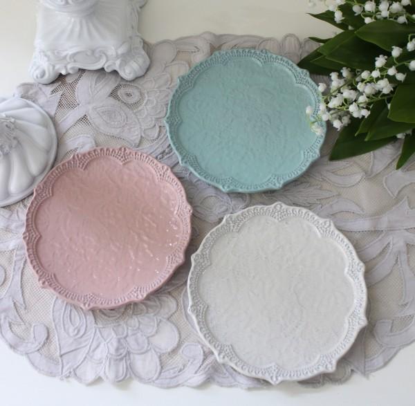 アンティーク 食器 La Ceramica V.B.C ラ・セラミカ イタリア プレート皿S (036 037 038) デザートプレートシャビーシック ア