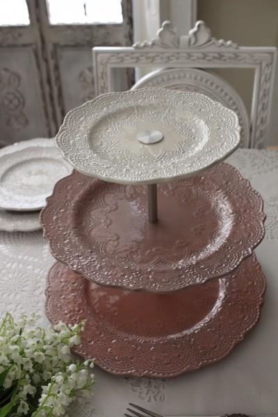 【La Ceramica V.B.C ラ・セラミカ イタリア】 ケーキプレート・ケーキスタンド(031) アフタヌーンティプレート イタリア