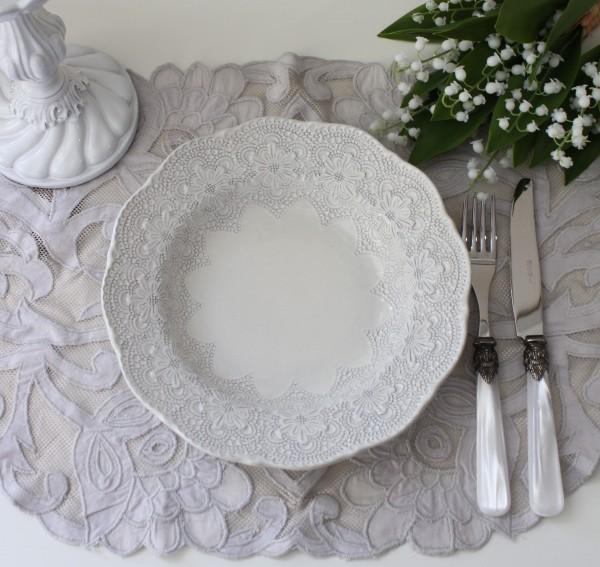 La Ceramica V.B.C ラ・セラミカ イタリア パスタ皿(クリーム 093)パスタプレート イタリア製 輸入食器 フレンチカントリー シ