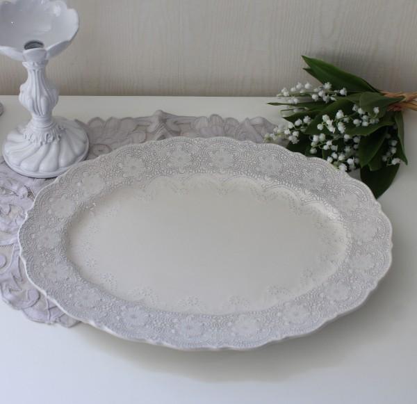 La Ceramica V.B.C ラ・セラミカ イタリア オーバル皿(クリーム 094)オーバルプレート 楕円 イタリア製 輸入食器 フレンチカン