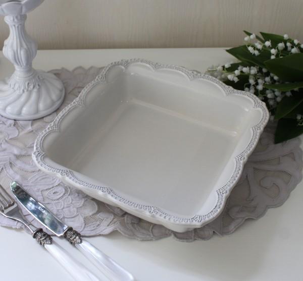 La Ceramica V.B.C ラ・セラミカ イタリア ベイクディッシュ(クリーム 095)オーブン 調理 ベイクプレート イタリア製 輸入食器
