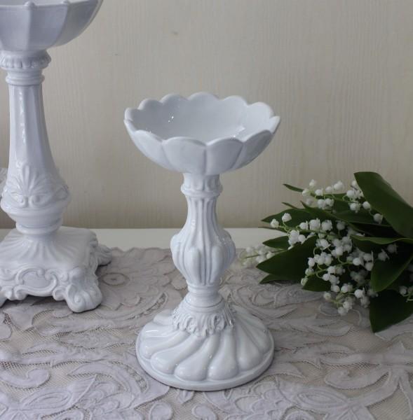 アンティーク 陶器 キャンドルホルダー(059) La Ceramica V.B.C ラ・セラミカ イタリア ピラーホルダー 燭台 キャンドルスタン