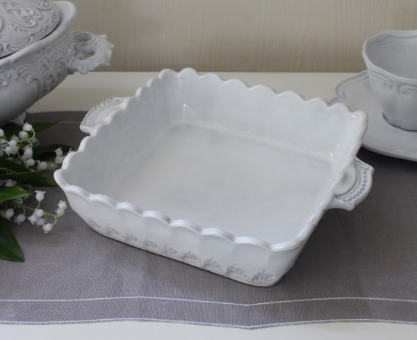 La Ceramica V.B.C ラ・セラミカ イタリア ベイクディッシュ(ストライプ 099)ベイク皿 調理皿 陶器 イタリア製 輸入食器 フレ
