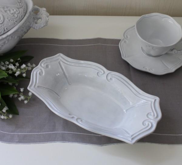 La Ceramica V.B.C ラ・セラミカ イタリア レクトボウル(ストライプ 102)深皿 ボウル 陶器 イタリア製 輸入食器 フレンチカン