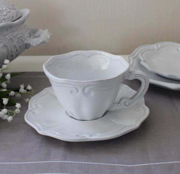 La Ceramica V.B.C ラ・セラミカ イタリア カップ&ソーサー(ストライプ 023)C&S ティーカップ コーヒーカップ 陶器 イタリア
