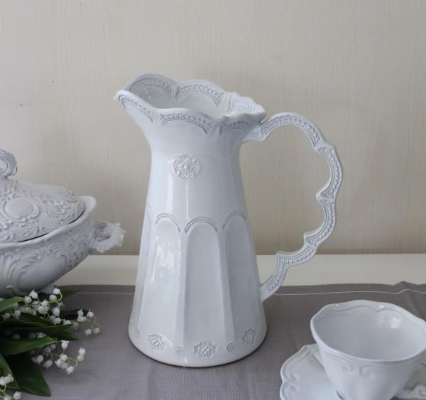 La Ceramica V.B.C ラ・セラミカ イタリア ピッチャー(ストライプ 100)水差し 花瓶 陶器 イタリア製 輸入食器 フレンチカント