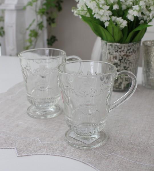 ガラスマグ・ヴェルサイユ フランス製 【La Rochere】 ラ・ロシェール マグカップ ヴェルサイユ ガラス食器 お洒落 コップ