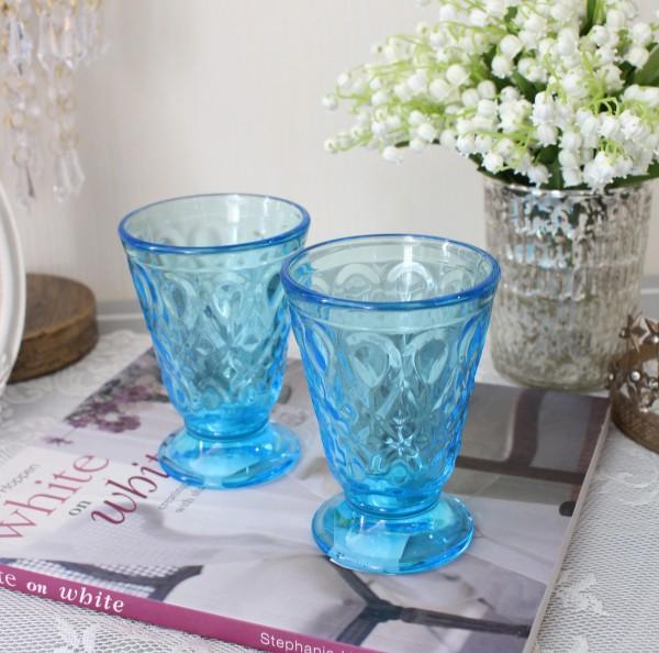 ガラスコップ グラス(リヨネ ブルー 200cc) 【La Rochere】 フランス製 ラロシェール ウォーターグラス タンブラー ガ