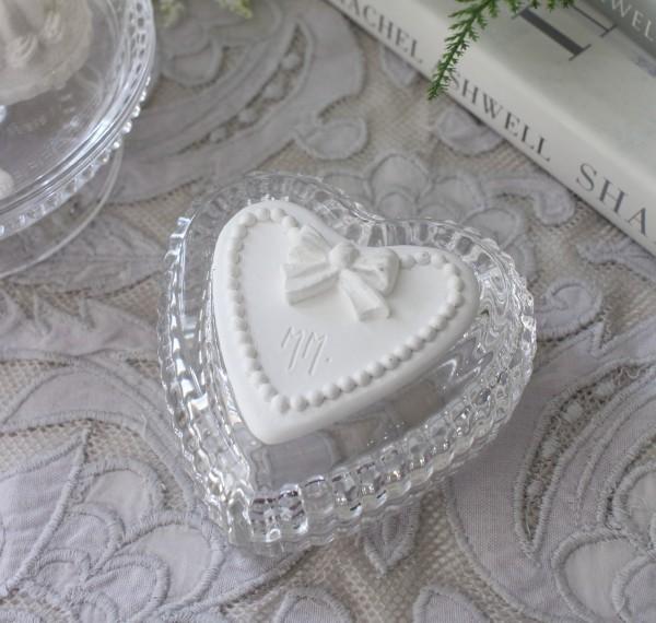 マチルドエム フランス ハートジュエリーケース ガラス製 (161) ガラスケース 可愛い マチルドM Mathilde M. シャビーシック ア