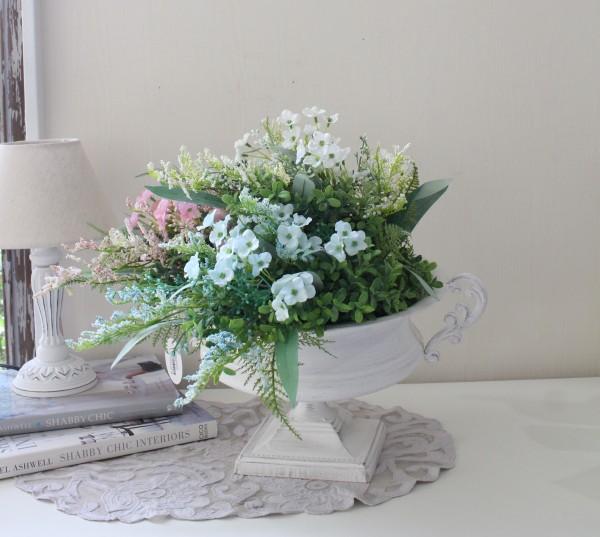 マチルドエム フランス ブリキベース (183) ホワイト コンポート 花器 可愛い マチルドM Mathilde M. シャビーシック アンティー