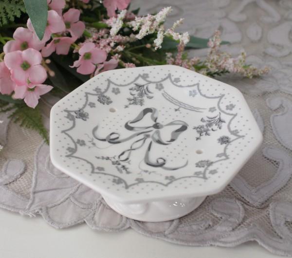 マチルドエム フランス ソープディッシュ  (リボン388) ソープトレー 陶器 サニタリー マチルドM Mathilde M. シャビーシック ア