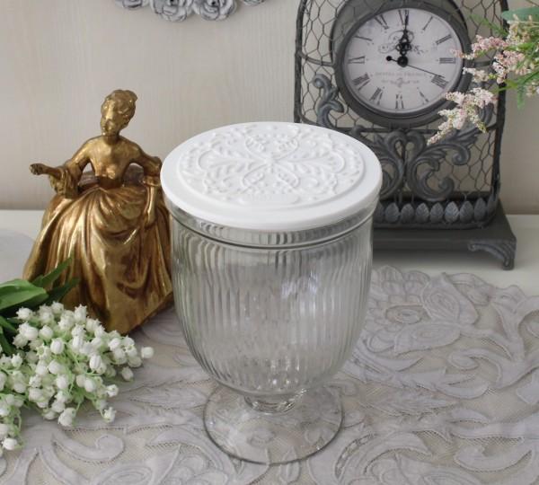 マチルドエム フランス ガラスキャニスター トール (406) ガラス製 小物入れ 蓋付 可愛い マチルドM Mathilde M. シャビーシック