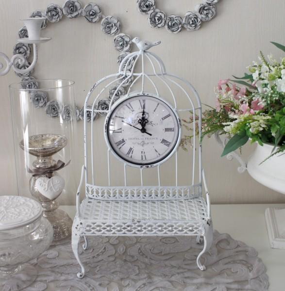 マチルドエム フランス 置時計 ホワイト (357) 時計 可愛い マチルドM Mathilde M. シャビーシック アンティーク風 輸入雑貨 ア