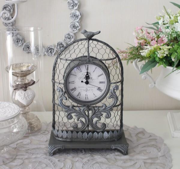 マチルドエム フランス 置時計 グレー (356) 時計 可愛い マチルドM Mathilde M. シャビーシック アンティーク風 輸入雑貨 アン