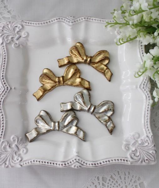 イタリア製 SOLDI リボン カトラリーレスト(オールゴールド・シルバー) 箸置き はし置き アンティーク風 シャビー