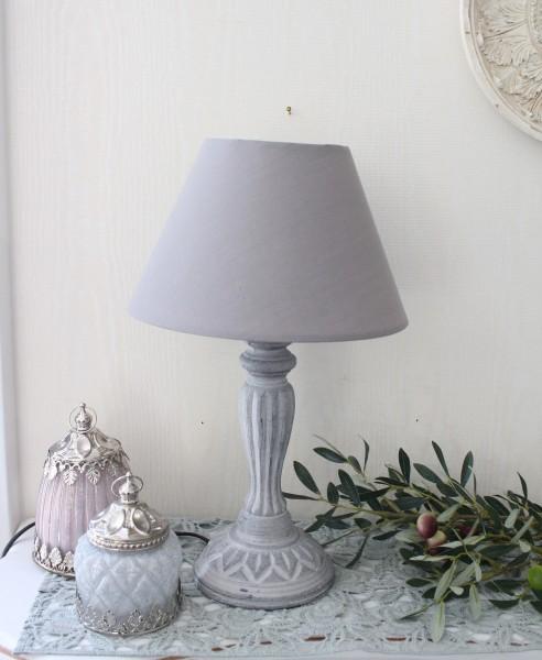 アンティークな卓上ランプ(クラシック・グレー24448000)テーブルランプ LED対応 おしゃれ アンティーク風 シャビーシッ