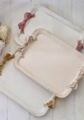 ★アウトレット品★ Bon Ruban♪♪ イタリア製 リボントレー 【スクエア M 3色】 リボントレイ 木製 ディスプレイトレイ ボンリュバ