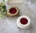 リングホルダー 指輪ホルダー 指輪ケース ホワイト ゴールド 可愛い アンティーク風 アンティーク調 姫系 シャビーシック フレン