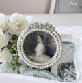 リボンパール 写真立て フォトフレーム プチフォトフレーム アンティーク風 シャビーシック フレンチシャビー 姫系 テーブルクロ