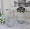 シャビーシック ガラス&アイアン花器 (トール70158 ホワイト ゴールド) ガラス製 フラワーベース ヨーロピアンコンポート 花