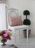 ハンドメイドのフランス家具 ダイニングチェア・リボン 【Blanc de Paris】 椅子 チェア 木製 シャビーシック ホワイト