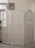 NEW♪ 3連スクリーン・パーテーション 【Blanc de Parisシリーズ】 屏風 衝立 間仕切り ホワイト 木製 シャビーシック