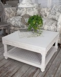 NEW♪ センターテーブル・リビングテーブル 【Blanc de Parisシリーズ】 正方形 机 ホワイト 木製 シャビーシック アンテ