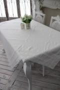 フランスから届くフレンチリネン テーブルクロス 150×150cm(リネンホワイト) 【Blanc de Paris】 トップクロス テーブルクロ