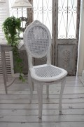 ハンドメイドのフランス家具 ドールチェア・ホワイト 【Blanc de Paris】 椅子 チェア 木製 シャビーシック アンティーク