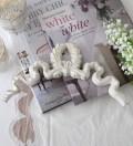 ★SALE・50★ リボンモチーフのウォールデコB 【Blanc Mariclo ブランマリクロ】 リボン飾り 壁掛け シャビーシック アンティ