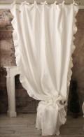 サイドフリルカーテン(ホワイト)イタリア直輸入 カーテン 間仕切り 紐タイプ シャビーシック アンティーク風 アンティーク 雑